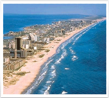 View of South Padre Island from the sky