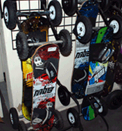 Kite Landboard gear and Mountain Boards