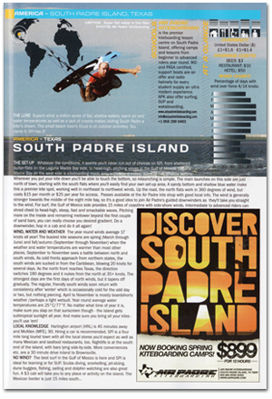 South Padre Island in 2010 Kiteworld Magazine Travel Guide