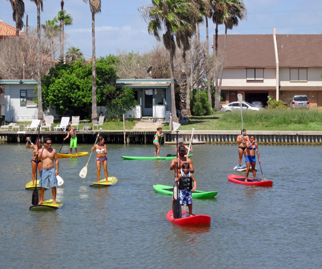 Paddle Boarding In South Padre Island