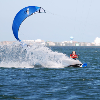 South Padre Island kite boarding Downwinders in the Laguna Madre Bay