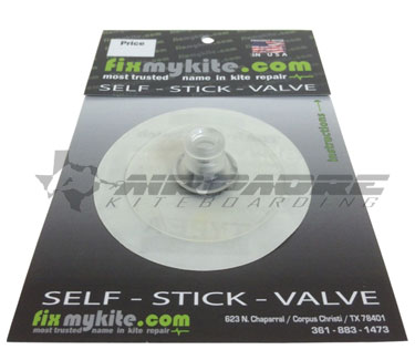 Stick on kite replacement valve