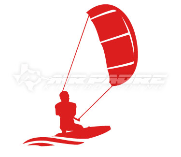 Kiteboarding Racer Sticker