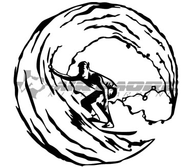 Surfer in Wave