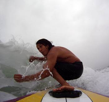 Johnny Rodz surfing on south padre island, Isla Blanca park